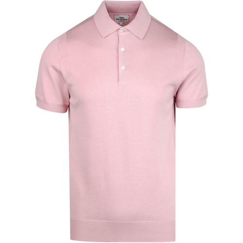 Ben Sherman short sleeve knitted polo shirt light pink 04fd57a1c254