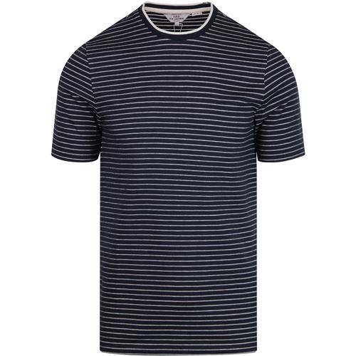 Ben Sherman retro tonal stripe longline tee dark navy cb475e0fd