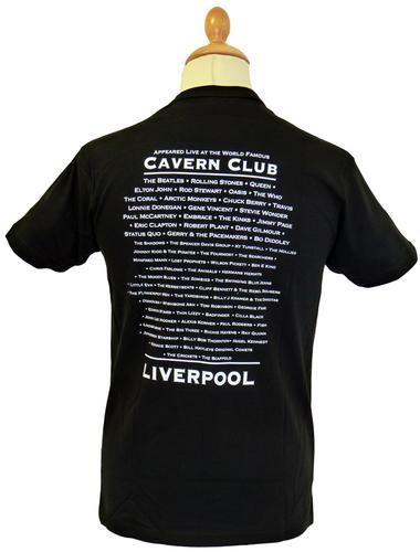 CAVERN CLUB Classic Logo Retro 60s Mod T-Shirt (B)