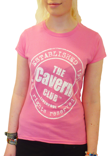 CAVERN CLUB Stamp Logo Retro Womens T-Shirt (P)