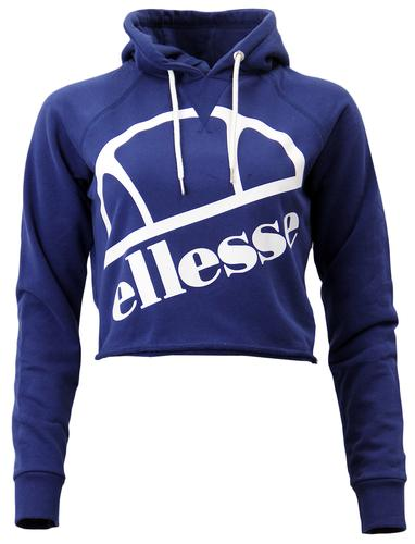 Floris ELLESSE Womens Retro 80s Cropped Hoodie