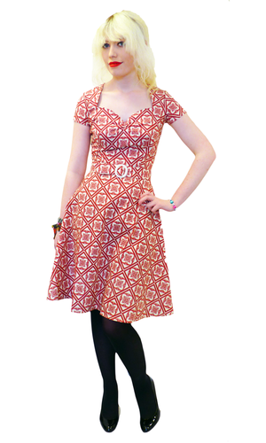 Aimee HEARTBREAKER Retro Sixties Mod A Line Dress