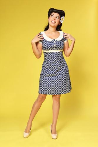 Dolly Op Art HEARTBREAKER Retro 60s Mod Dress