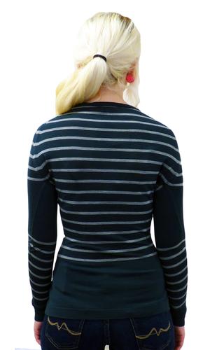 Nipper JOHN SMEDLEY Retro 60s Striped Mod Pullover