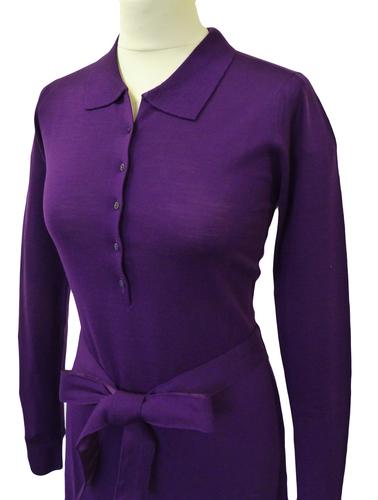 Dawnay JOHN SMEDLEY Retro Mod Knitted Shirt Dress