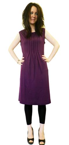 Genie JOHN SMEDLEY Retro Sixties Pleated Dress M