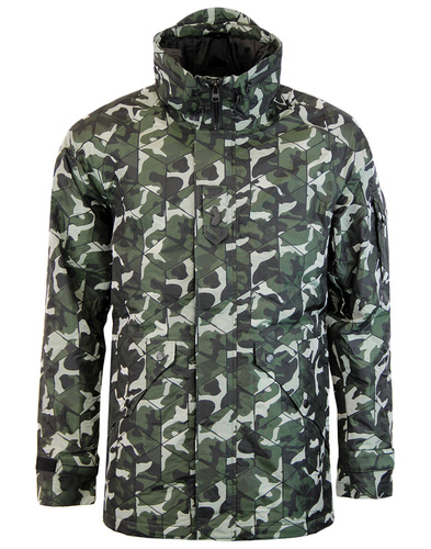 Perchy LUKE 1977 Retro Indie Mod Camo Field Jacket