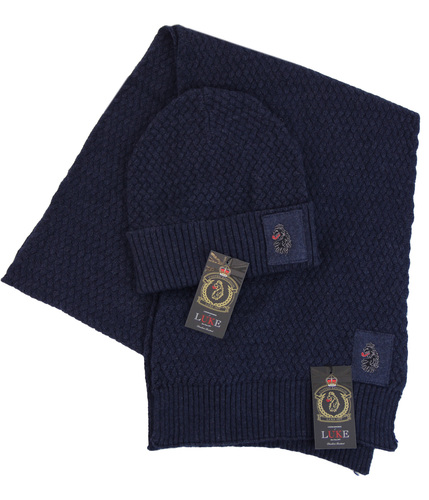 Unbeweavable LUKE 1977 Retro Mod Hat & Scarf Set