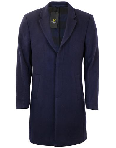 LYLE & SCOTT Retro Single Breasted Melton Top Coat