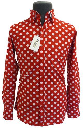 Penny Dot Lane Retro Sixties Mod MADCAP Shirt R