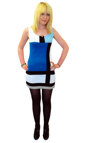 'The Buzz' - Retro Mod Sixties Dress by MADCAP (K)