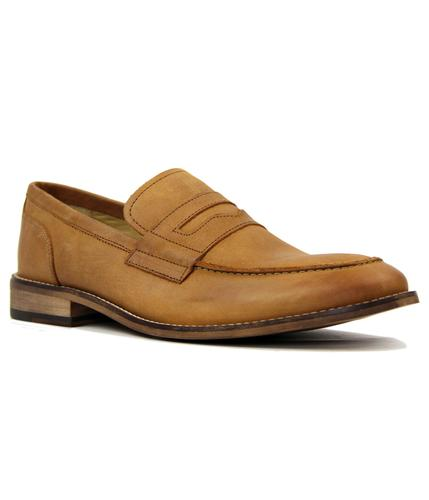 Marner IKON Retro Mod Tan Leather Penny Loafers