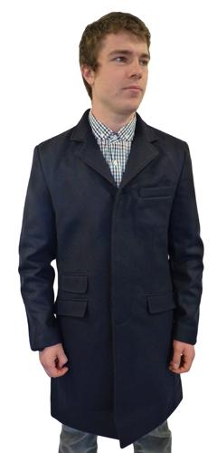 'Lord John' Retro Mod Overcoat by MERC LONDON (N)