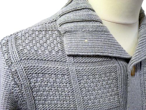 ORIGINAL PENGUIN Mod Chunky Knit Retro Mens Cardy