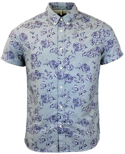 Dalmore PEPE JEANS Retro Floral Button Down Shirt