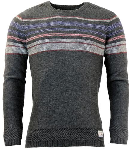 Titanium PEPE JEANS Retro Stitch Stripe Jumper