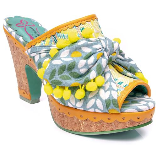 0fe69254b3bbc Poetic licence bow wow wow 70s cork sandal mustard. Poetic Licence By Irregular  Choice