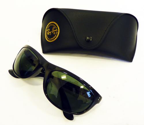 971fbbf38157 Balorama G-15 RB4089 Sunglasses | Ray-Ban Retro Mod Wrap Round