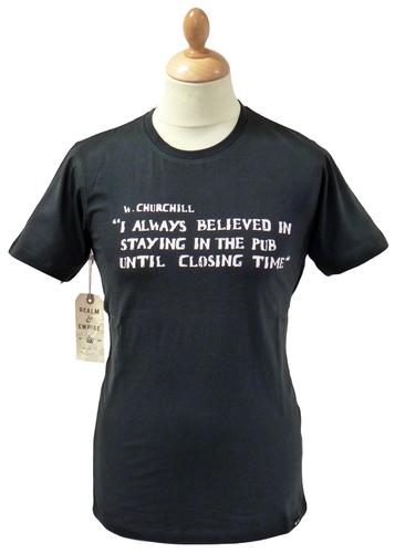 Closing Time REALM & EMPIRE Retro Quote T-Shirt