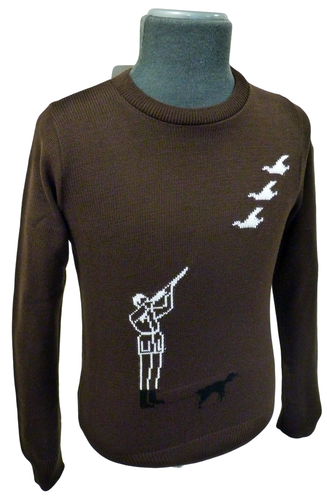 'Hunter' Retro Country Gent Intarsia Knit Jumper B