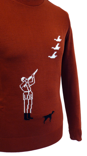 'Hunter' Retro Country Gent Intarsia Knit Jumper R