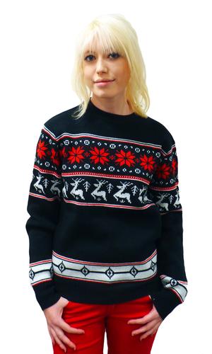 'Reindeer Jumper' - Retro Woolly Winter Jumper (B)