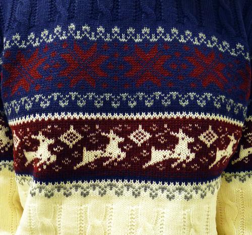 'Reindeer on my Parade' Retro 70s Christmas Jumper