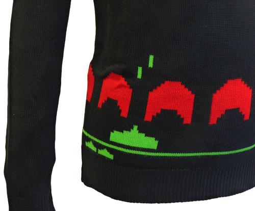 Space Invaders Mens Retro Indie Seventies Jumper