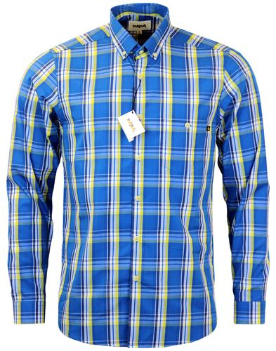 Java TUKTUK Retro Mod Button Down Check Shirt