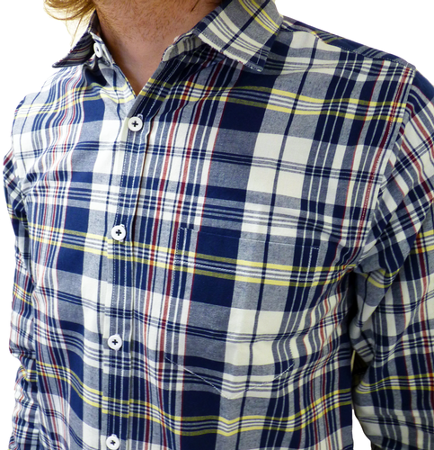 Maritime Check TUKTUK Retro Mod Button Down Shirt