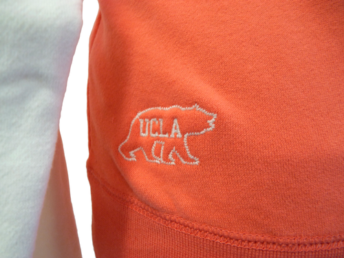 'Day' - Womens Retro 70s Hooded Top by UCLA