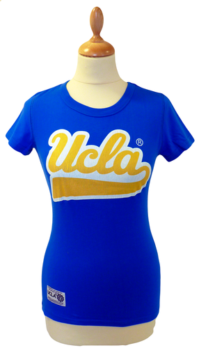 'Jenson' - Womens Retro T-Shirt by UCLA (Blue)