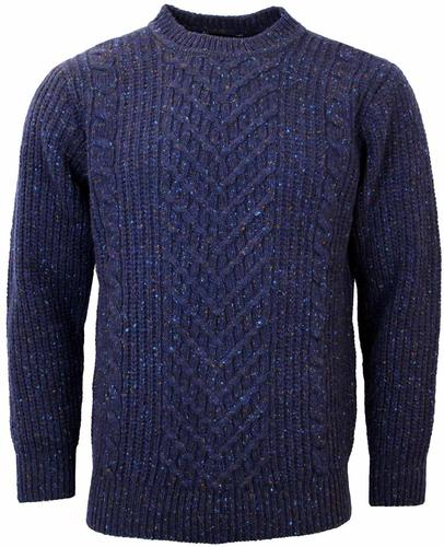 VIYELLA Donegal Retro Ribbed Knit Jumper