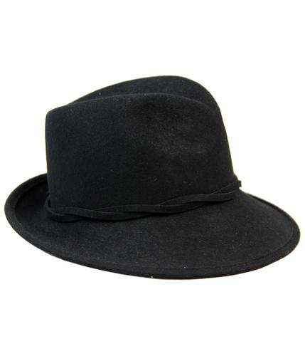 FAILSWORTH Retro Cinched Crown Wool Fedora Hat