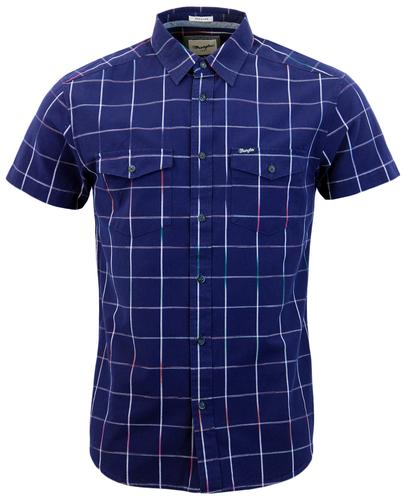 WRANGLER Retro Gradient Window Pane Check Shirt