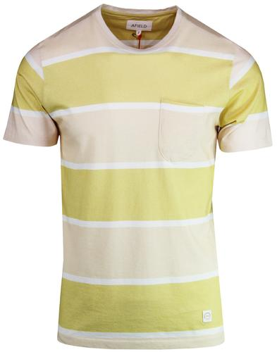 Dos AFIELD Men's Retro 1970s Block Stripe T-shirt