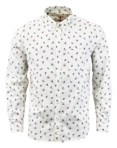 AFIELD Mens Mod Button Down Slalom Ski Print Shirt