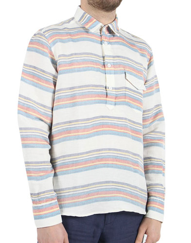 AFIELD Men's Retro 70s Woven Over The Head Shirt