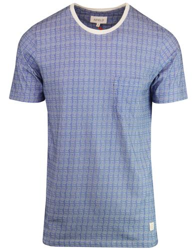 AFIELD Men's Retro 1970s Geo Spiral Square T-Shirt