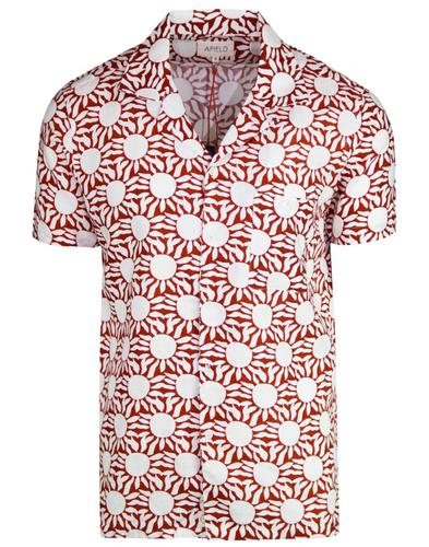 Selleck AFIELD Retro 80s Sun Print Hawaiian Shirt