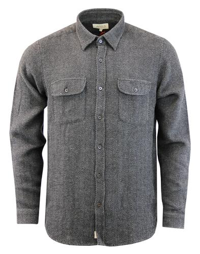 AFIELD Retro Mod Herringbone Stripe Workwear Shirt