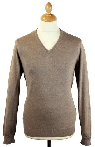 Rothwell ALAN PAINE Luxury Cotton V-Neck Jumper T