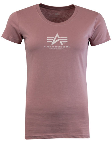 ALPHA INDUSTRIES Womens Retro Basic Logo Tee PINK