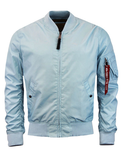MA1 TT ALPHA INDUSTRIES Mod Bomber Jacket AIR BLUE