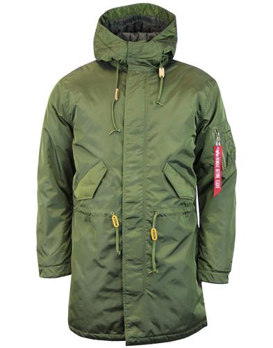 ALPHA INDUSTRIES Mod Hooded Fishtail Parka (DG)