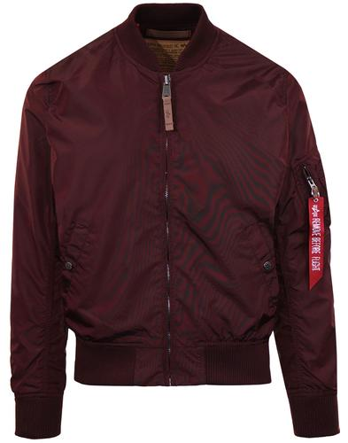 MA-1 TT ALPHA INDUSTRIES Mod Bomber Jacket MAROON