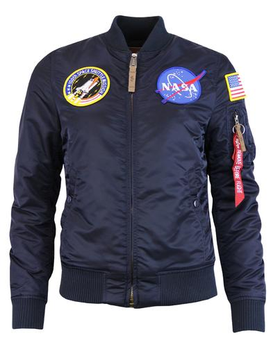 MA1 NASA ALPHA INDUSTRIES Womens Bomber Jacket RB