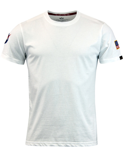 ALPHA INDUSTRIES Retro Indie NASA Patch Tee WHITE