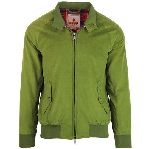 Baracuta G9 Authentic Fit 1960s Mod Cord Harrington Jacket in Leaf b9ad497287