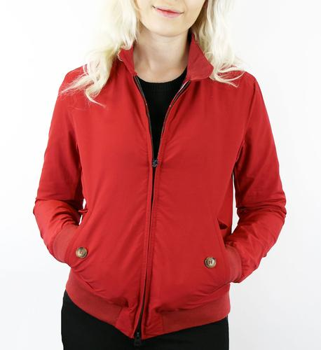 BARACUTA ORIGINAL G9 HARRINGTON JACKET WOMENS RED